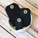 Small Black reinforced luggage gift tags