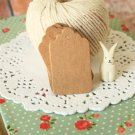 Kraft Brown DIY Collection Mini Scallop Tags