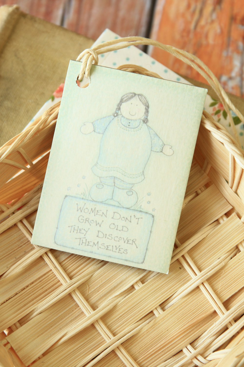 Grow Old East of India printed gift tags
