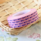 Blue Polka Dots Pink washi tape