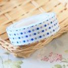 Blue Polka Dots White washi tape