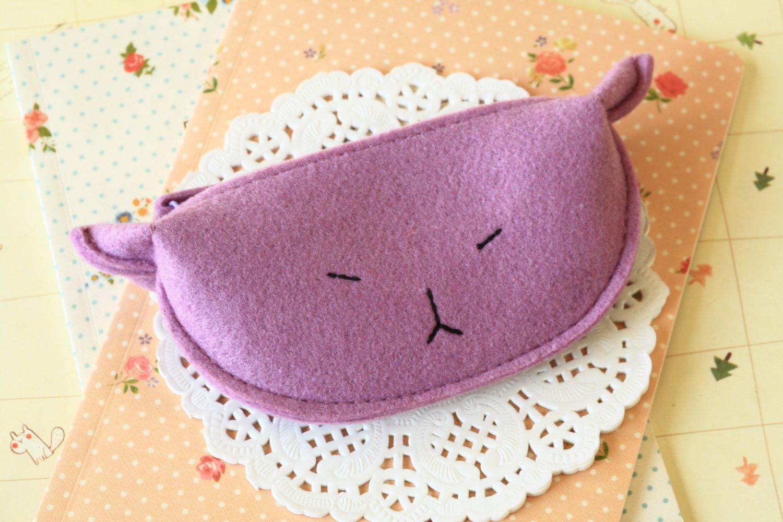 Purple Cute Cat coin bag purse