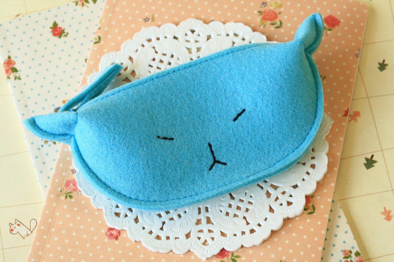 Blue Cute Cat coin bag purse