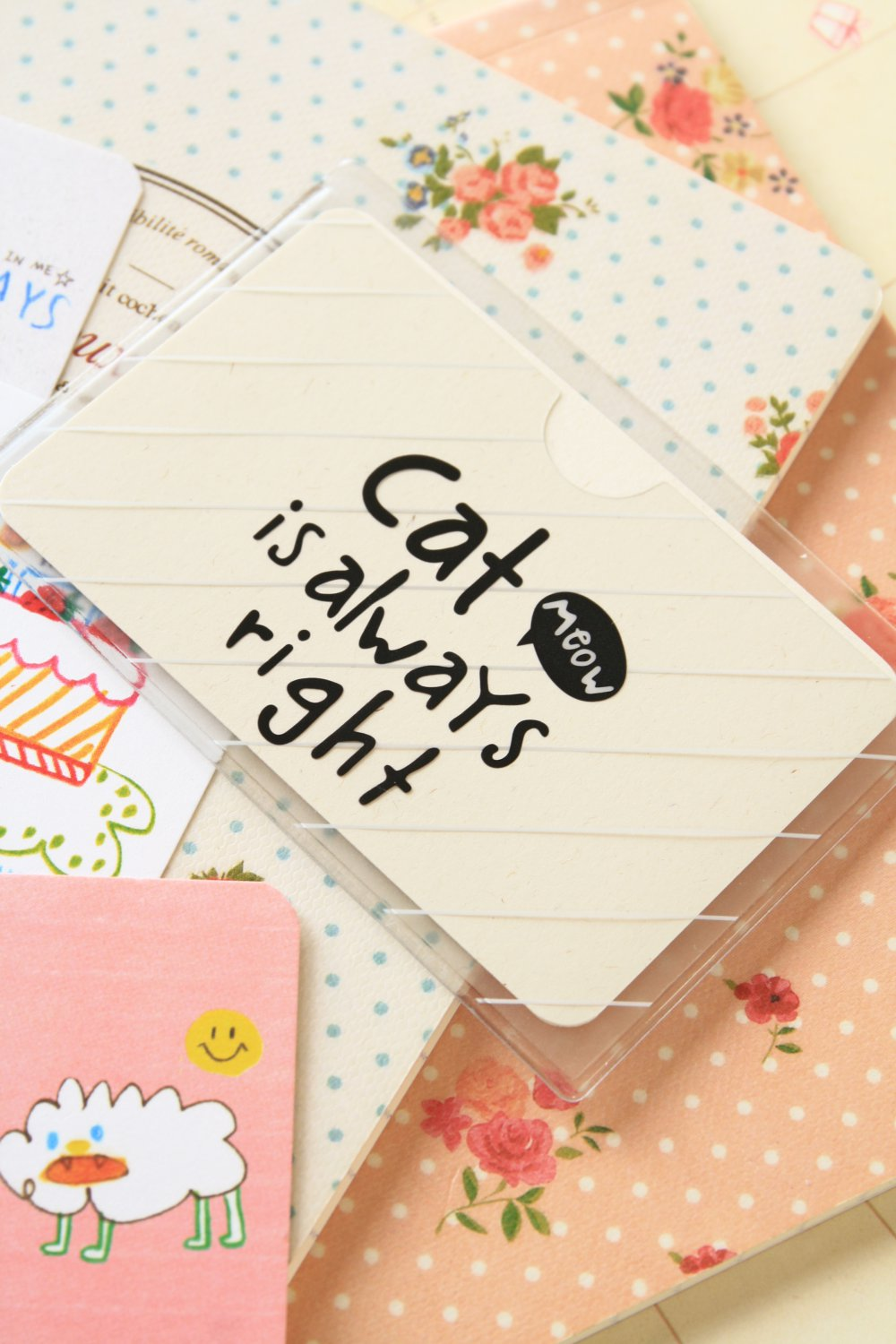 05 Meow Cat cartoon card holder