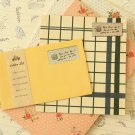 Yellow Vintage Style Simple Grid writing paper & envelopes set