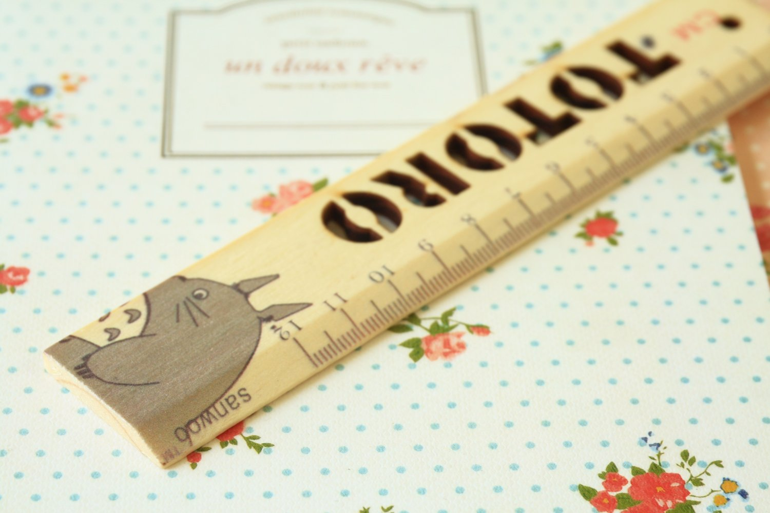 03 Totoro cartoon animal wooden Pocket Ruler