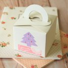 Ivory Magnolia Square Favour boxes