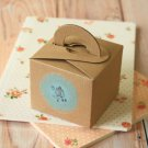 Textured Kraft Brown Square Favour boxes
