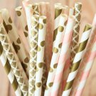Vintage Chic mix set paper straws