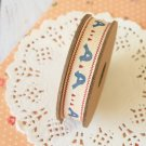 East of India Blue Birds homespun ribbon