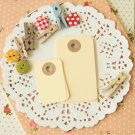 Cream midi rounded gift tags