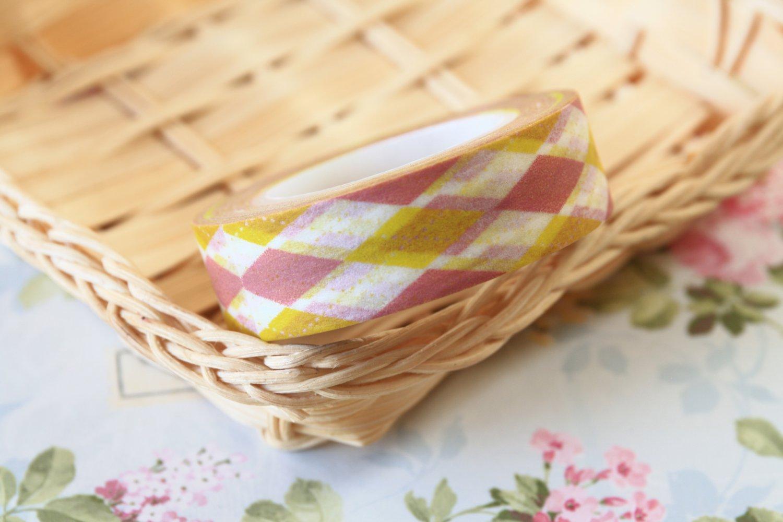 Brown Argyle fancy washi tape