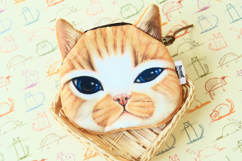 Brown Cat Face coin bag purse
