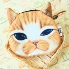 Brown Cat Face coin bag purse