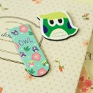 02 Cute Owl cartoon magnetic bookmark paper clips