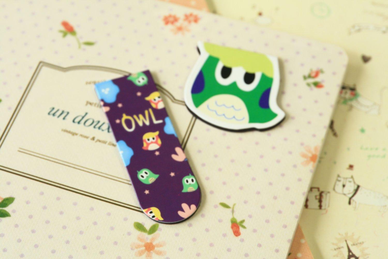 04 Cute Owl cartoon magnetic bookmark paper clips