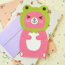 Frog Bear cartoon animal shaped letter set