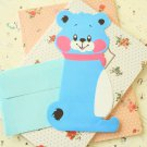 Blue Bear cartoon animal shaped letter set