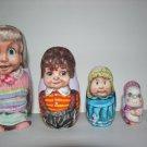 The Dolls (Cricket,Corky, Hugga Bunch, Cabbage Patch) nesting doll