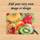 Personalized Glass Chopping Board. Personalised photo cutting board, worktop saver