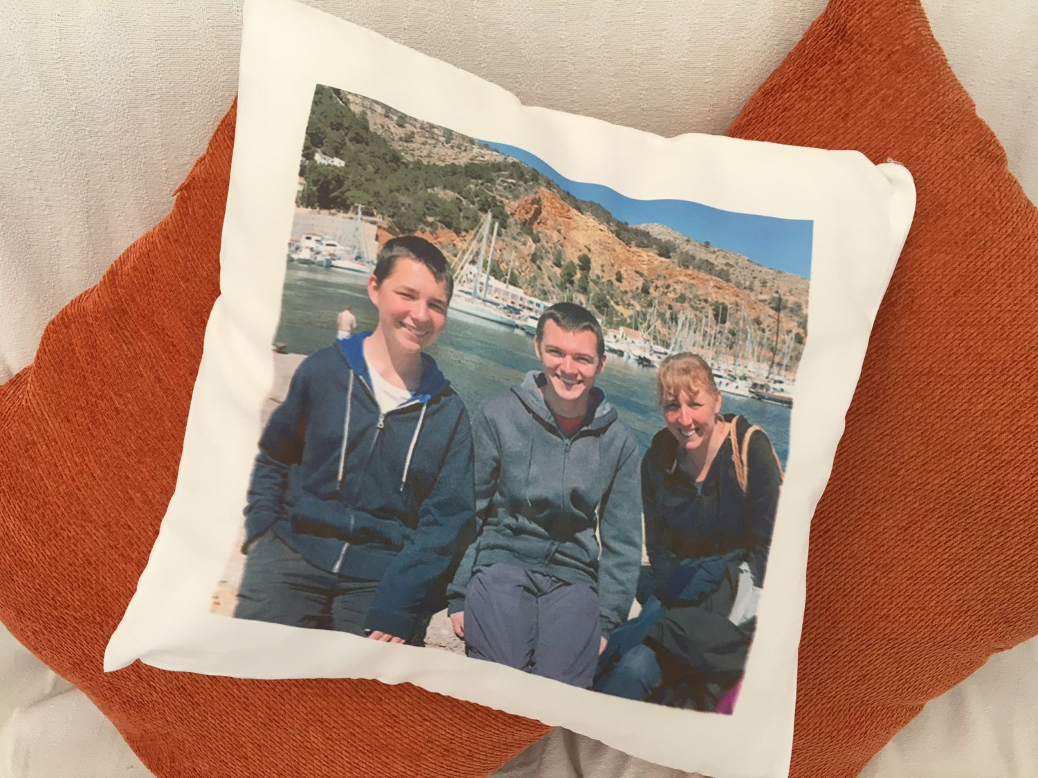 Personalized Photo Cushion. Customised Cushion Cover. Personalised cushion pillow case