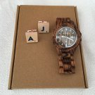 Wooden Watch and Personalized Wood Cufflinks. Personalised Scrabble letter cufflinks.