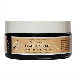 6 Pack Moroccan Black Soap PLUS  Kessa Exfoliating Glove-Vanilla
