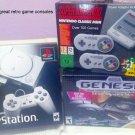 Genuine Snes Classic Modded + Sony Playstation Classic Mini + Sega Genesis Mini