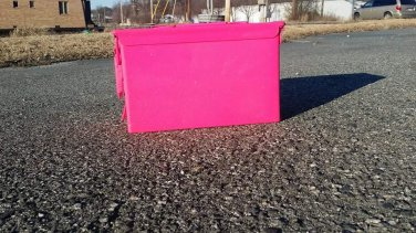 50 cal ammo box in hot pink pearl powdercoat
