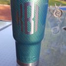 30 oz ozark trail tumbler light blue carbon fiber