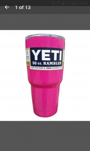 30 oz yeti tumbler in hot pink