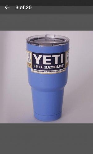 30 ounce Yeti tumbler Carolina blue