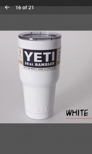 30 oz yeti tumbler in white