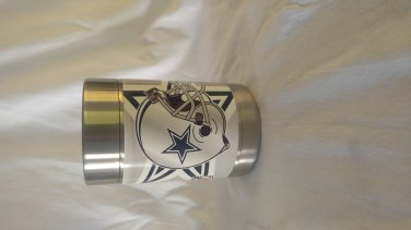 Dallas cowboys vinal wrapped koozie