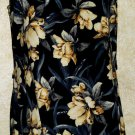 New! Koret long sleeveless dress blue floral 8 rayon/linen blend multi color