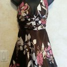 New!Speechless juniors size 3 sexy dress brown white pink floral halter style !!