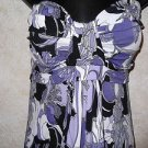 New!  Women's JBS Strapless Multi-Color Dress 12 Gathered Top Above Knee Length