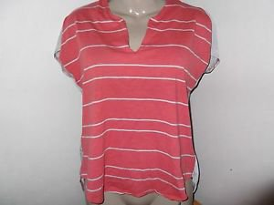 New! Women's CONVERSE ONE STAR M Blouse High Low Cotton Blend Sleeveless Stripe