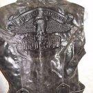 Women's Sleeveless Belted Jacket Brown Vegan Distressed REBEL RIDER Vest L Biker