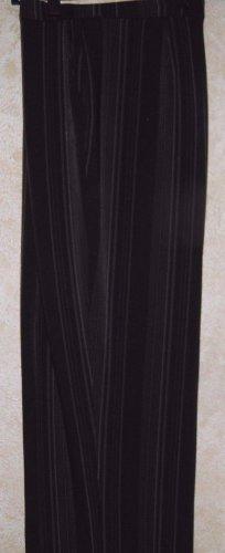 """Women's 22W Plus Size Black Gray Striped Dress Pants GEORGE 32"""" L Flat Front EUC"""