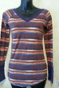 MILEY CYRUS MaxAzria Multi Color Long Sleeve V-neck Top Shirt,  Juniors M