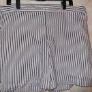 IZOD XFG 16 Flat Striped Women's Golf Shorts Cotton Blend NEW!