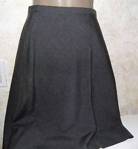 Women's Gray A Line Career Skirt HILLYARD & HANSON 10 Polyester Rayon No Slit