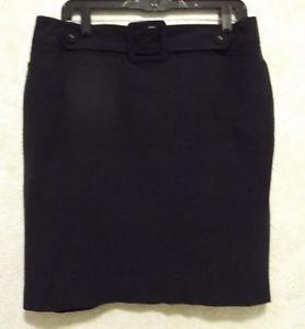 New! TALBOTS Woman 12 Solid Ink Black Polyester Viscose Pencil Skirt Sz 12 Lined