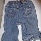 Newborn Girls PLACE Est. 89 Lined Jeans 3-6 Month Light Wash Pink Stitching Cute