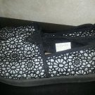 Faded Glory Big Girls Silver, Black, Casual, Dressy, Slip on Flats, Size 4
