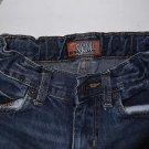 Old Navy Kids Skinny Jeans Size 6 Dark Wash 100% Cotton Distressed Blue EUC