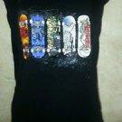 Boys L 100% Cotton Everyday Black Sleeveless Tshirt MOSSIMO All Seasons Skate