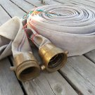 """Brand New 100' Firehose 2.5"""" Brass Connections  Made in USA!!!!"""