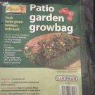 "Lot x 2 Garden Patio ReUse •16""x39""x9""•72 qts soil •woven polyethylene grow bags"